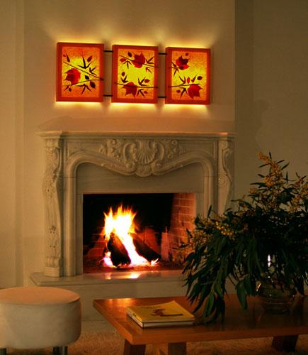 Διακοσμητικό τριπλό φωτιστικό τοίχου απλίκα