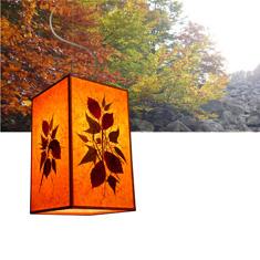Φωτιστικό κρεμαστό με ύφασμα και φύλλα