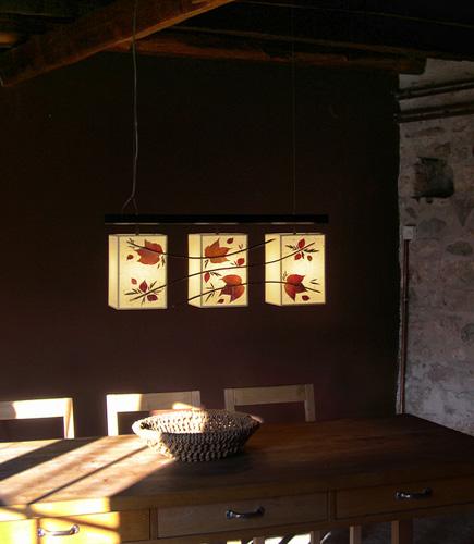 Κρεμαστό φωτιστικό τραπεζαρίας με φύλλα